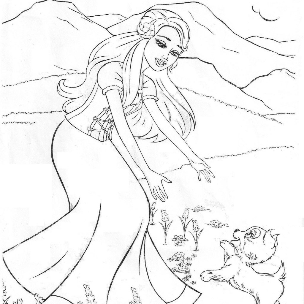 Free Barbie 12 Dancing Princesses Coloring Pages, Download Free ... | 1024x1024