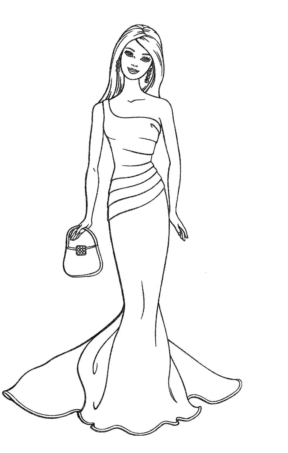 Barbie coloring pages printable to download for Barbie coloring pages for kids