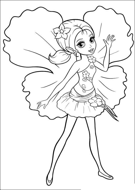 Barbie Doll Coloring Pages For Kids
