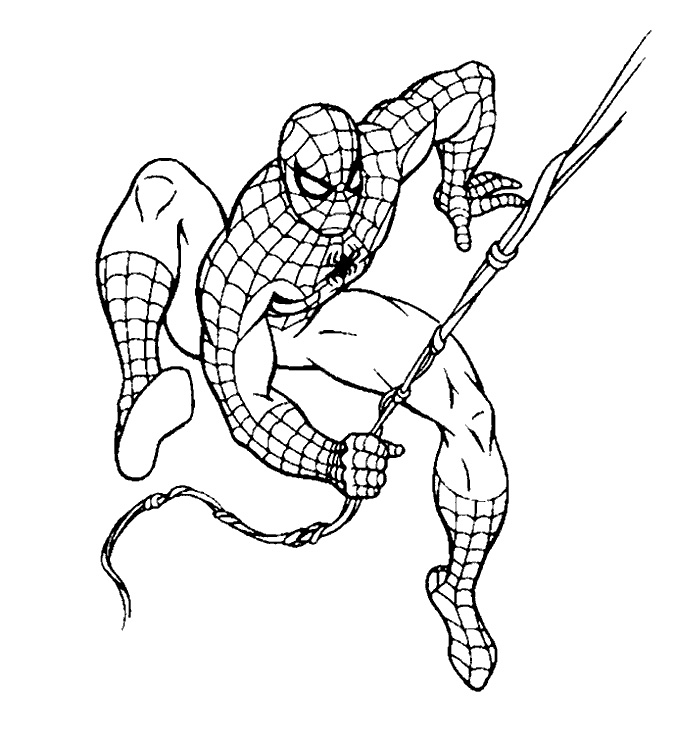 spectacular spiderman coloring pages - photo#26