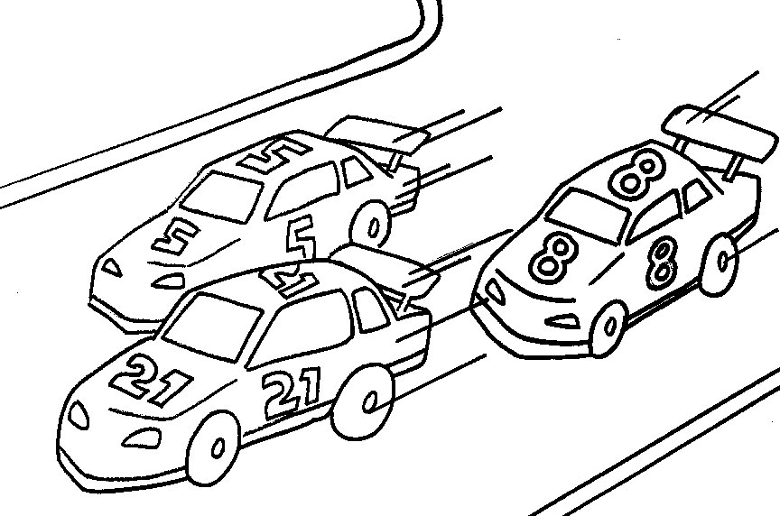 Car Coloring Page For Adults