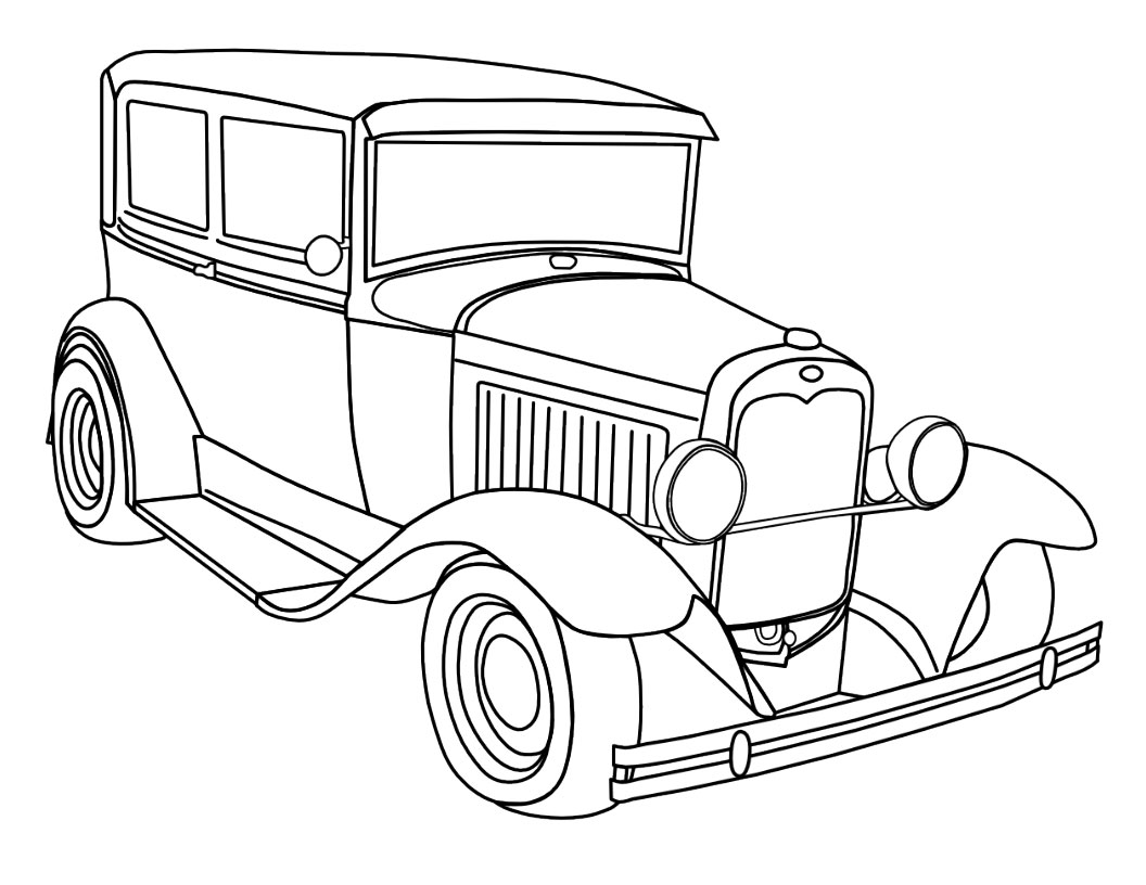 Car coloring pages free download for Free car coloring pages to print