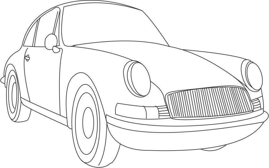 Car Coloring Pages For Kids To Print