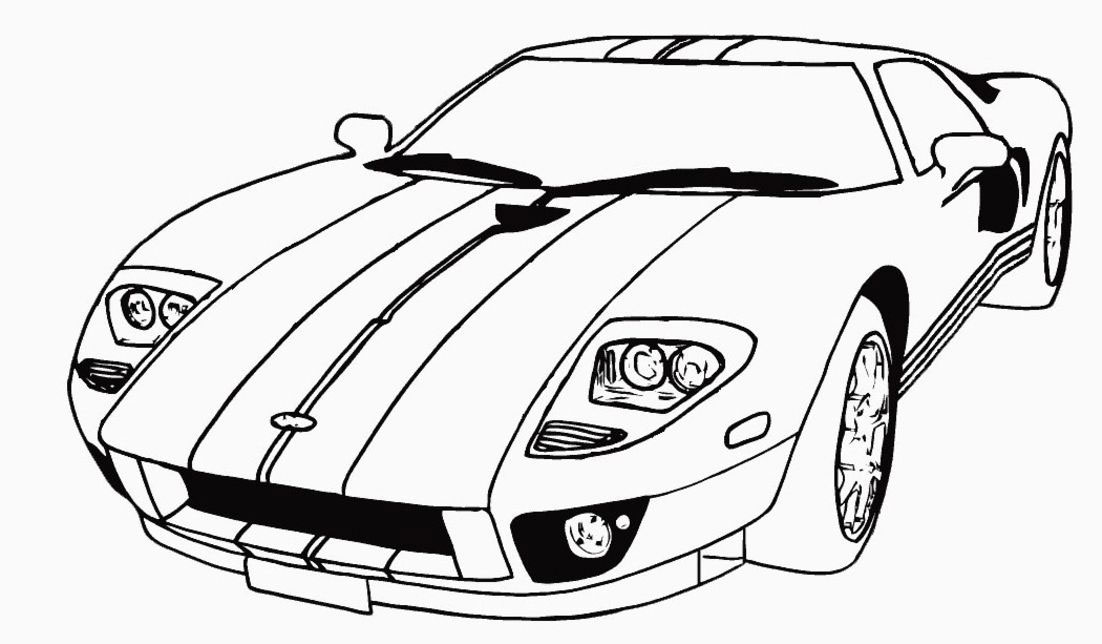 Free Coloring Pages Of A Car : Car coloring pages free download