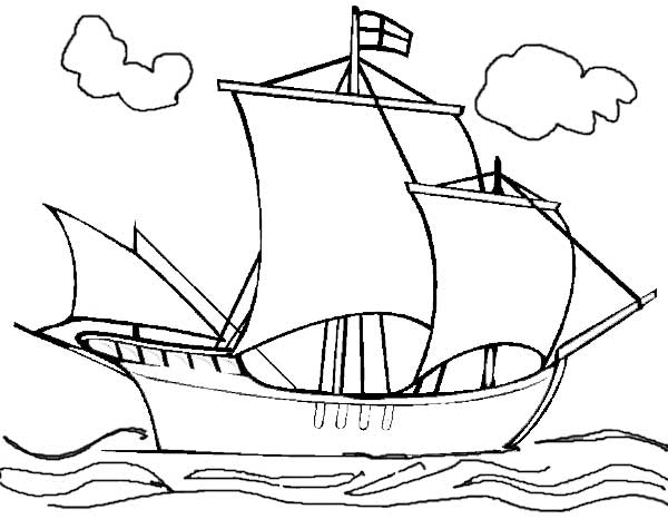 21 Printable Boat Coloring Pages Free Download Mayflower Coloring Page