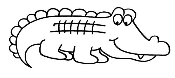 Cute Crocodile Coloring Pages