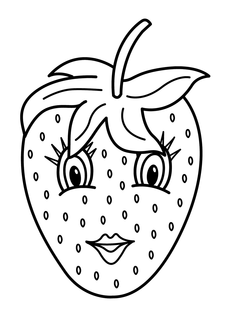 kawaii fruit coloring pages | Fruits Coloring Pages Printable