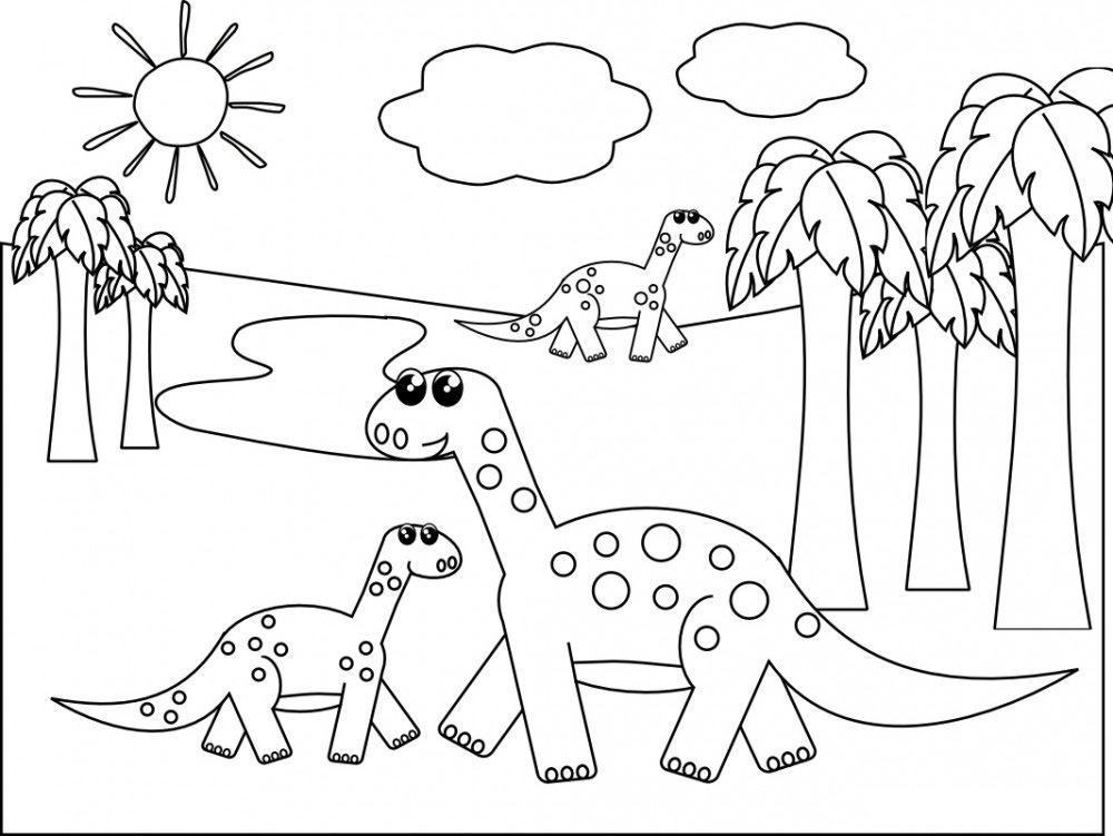 Dinosaur coloring pages for kids for Printable coloring pages dinosaurs