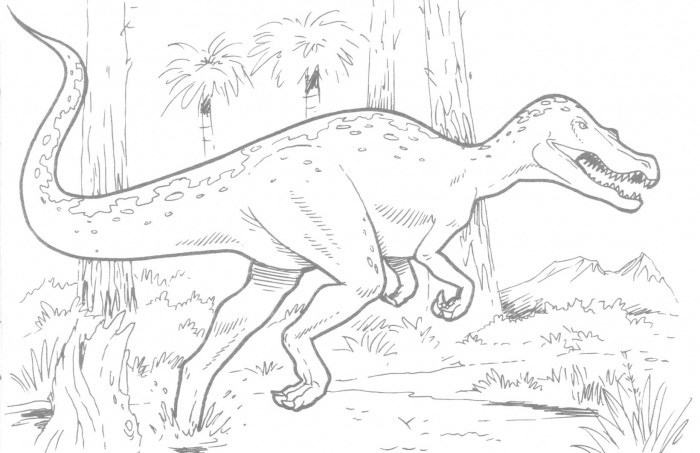 Dinosaur Coloring Pages for Boys