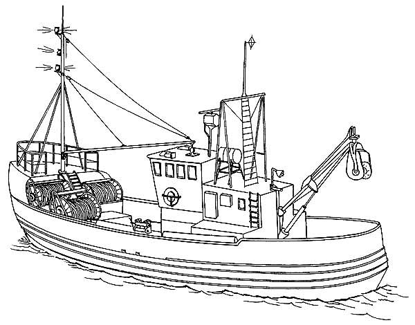 coloring pages of fishing boats - photo#8