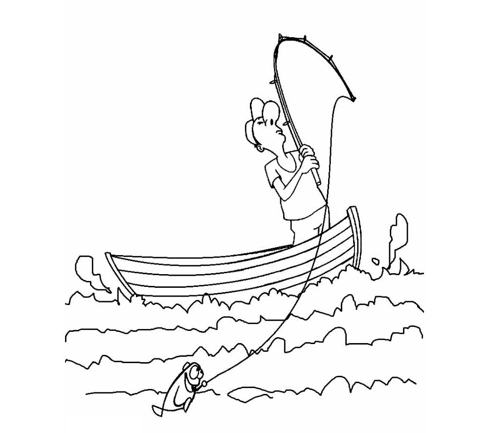 coloring pages of fishing boats - photo#17