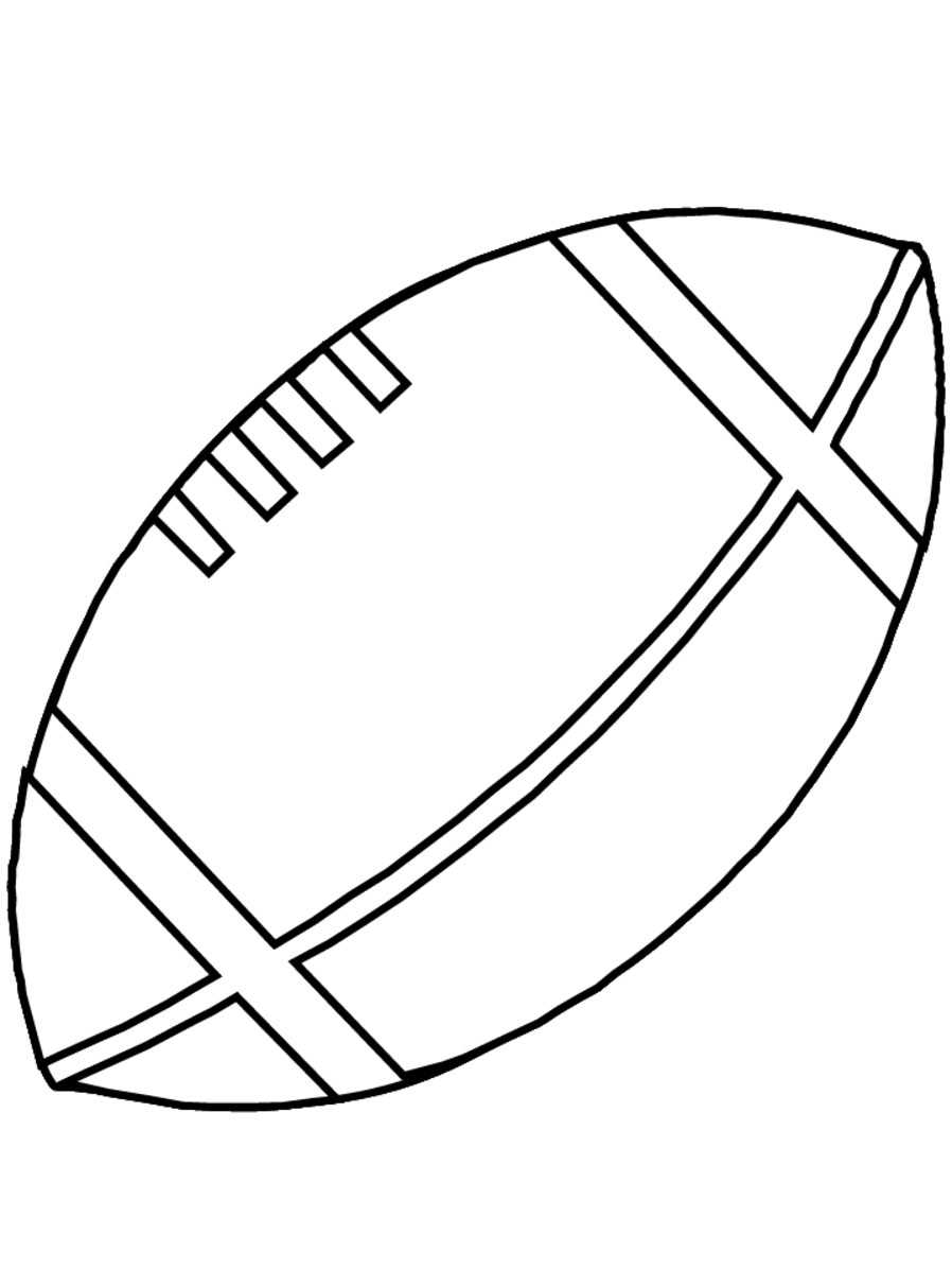 Football coloring pages for kids for Football color page