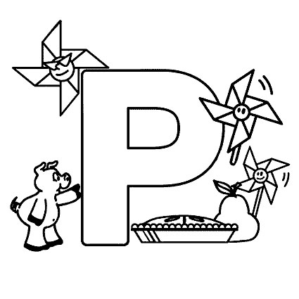 Free Coloring Pages Alphabet Letters
