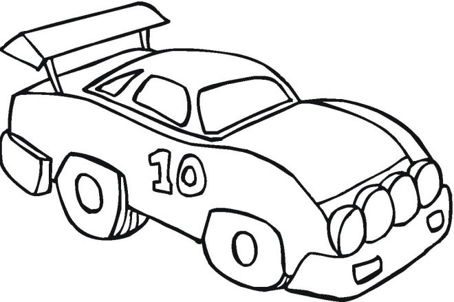 Free Car Coloring Pages For Preschooler
