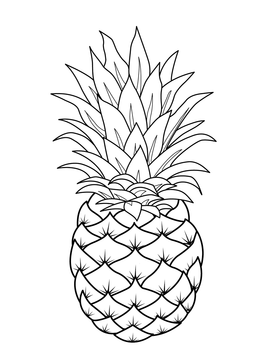 Fruits coloring pages printable for Apple coloring pages