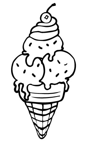 Ice cream coloring pages for free download for Free coloring pages of ice cream