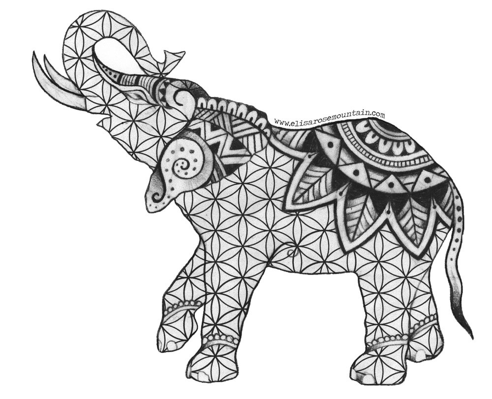 indian elephant coloring pages - Free Elephant Coloring Pages