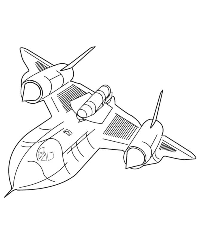 coloring page jet airplane coloring pages to print for free