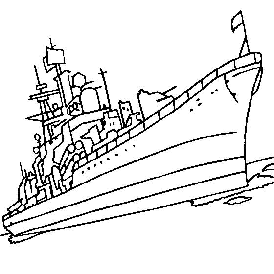 Navy Boat Coloring Pages