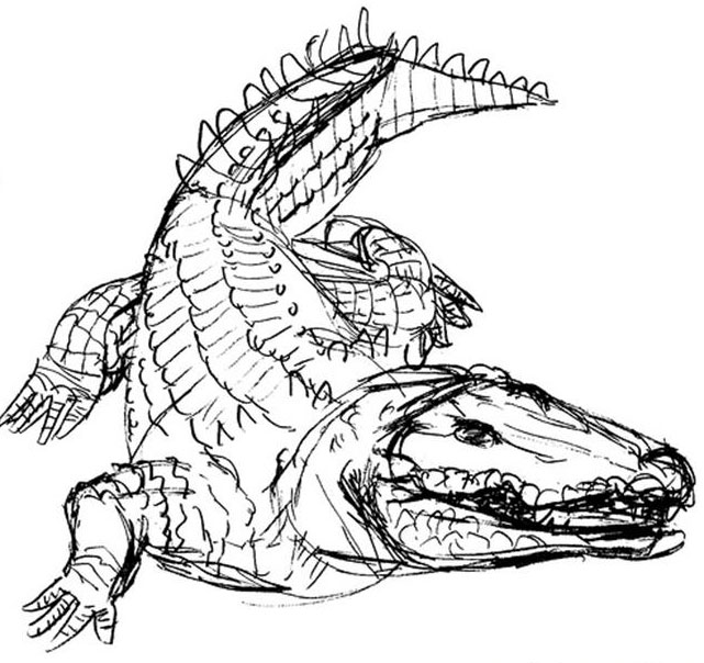 printable coloring pages crocodile - photo #27
