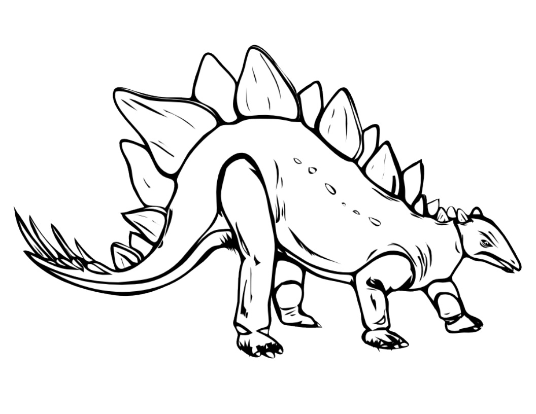 Dinosaur coloring pages for kids for Triceratops coloring page