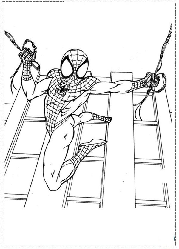 spectacular spiderman coloring pages - photo#11