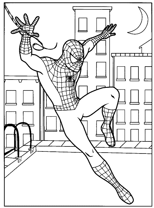Spiderman Coloring Pages For Free