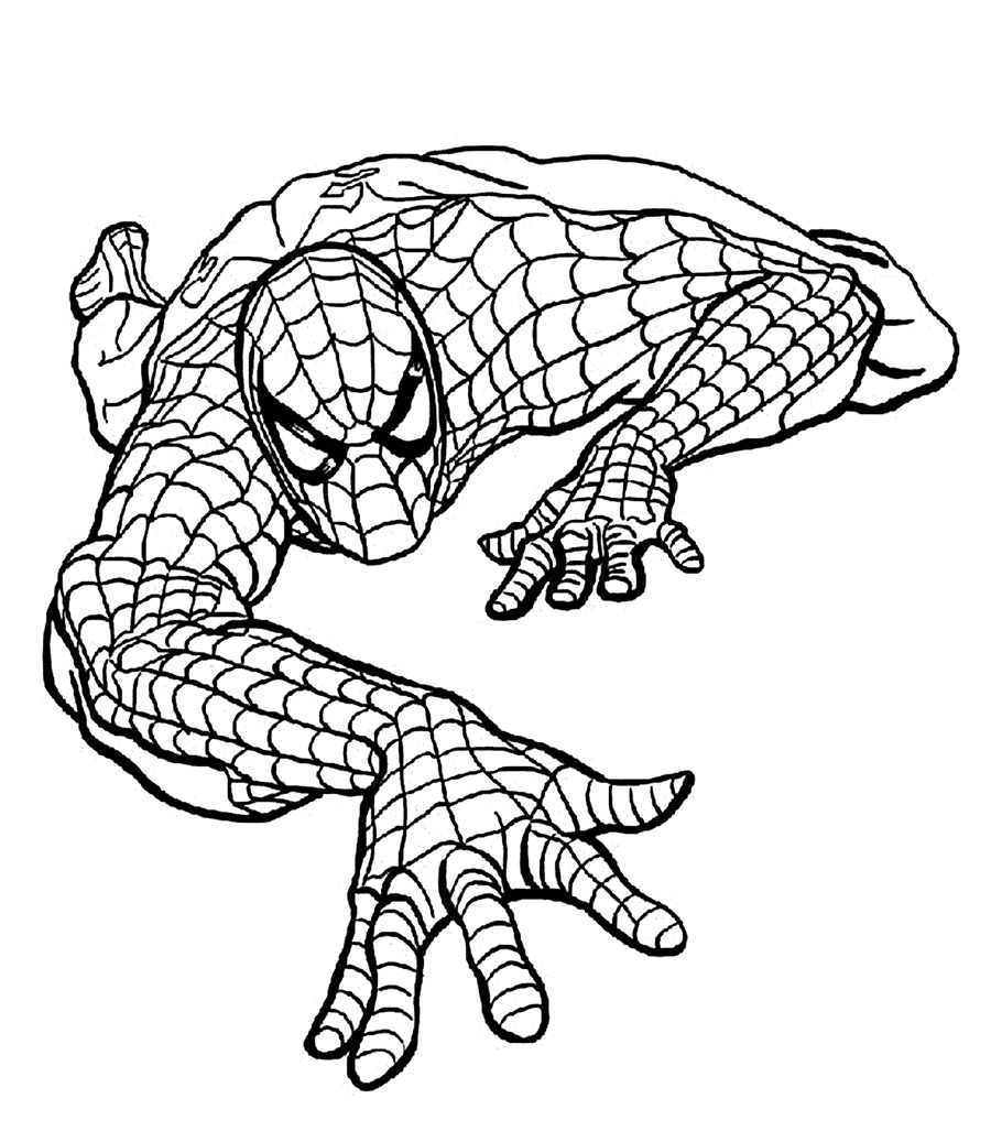 Top 20 spiderman coloring pages printable for Spiderman coloring book pages