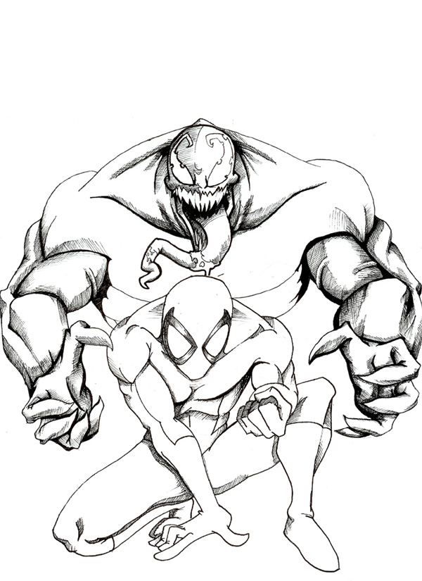 Spiderman Coloring Pages Venom