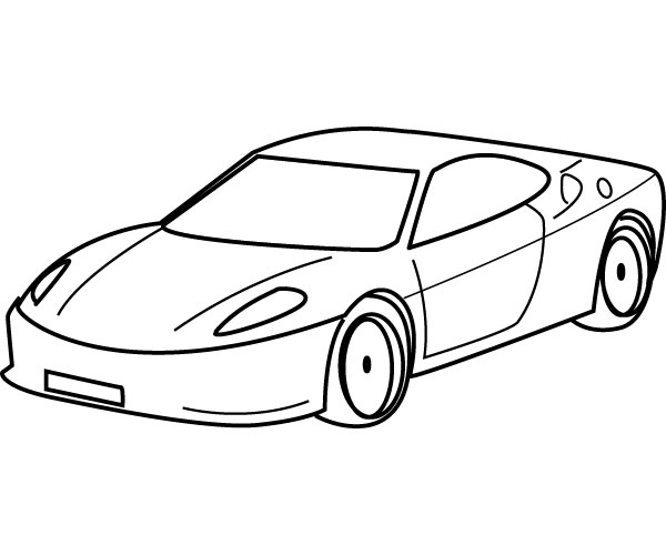 Sports Cars Coloring Pages