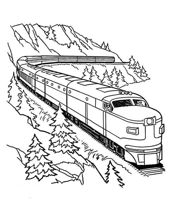 Train coloring pages for free download for Amtrak coloring pages