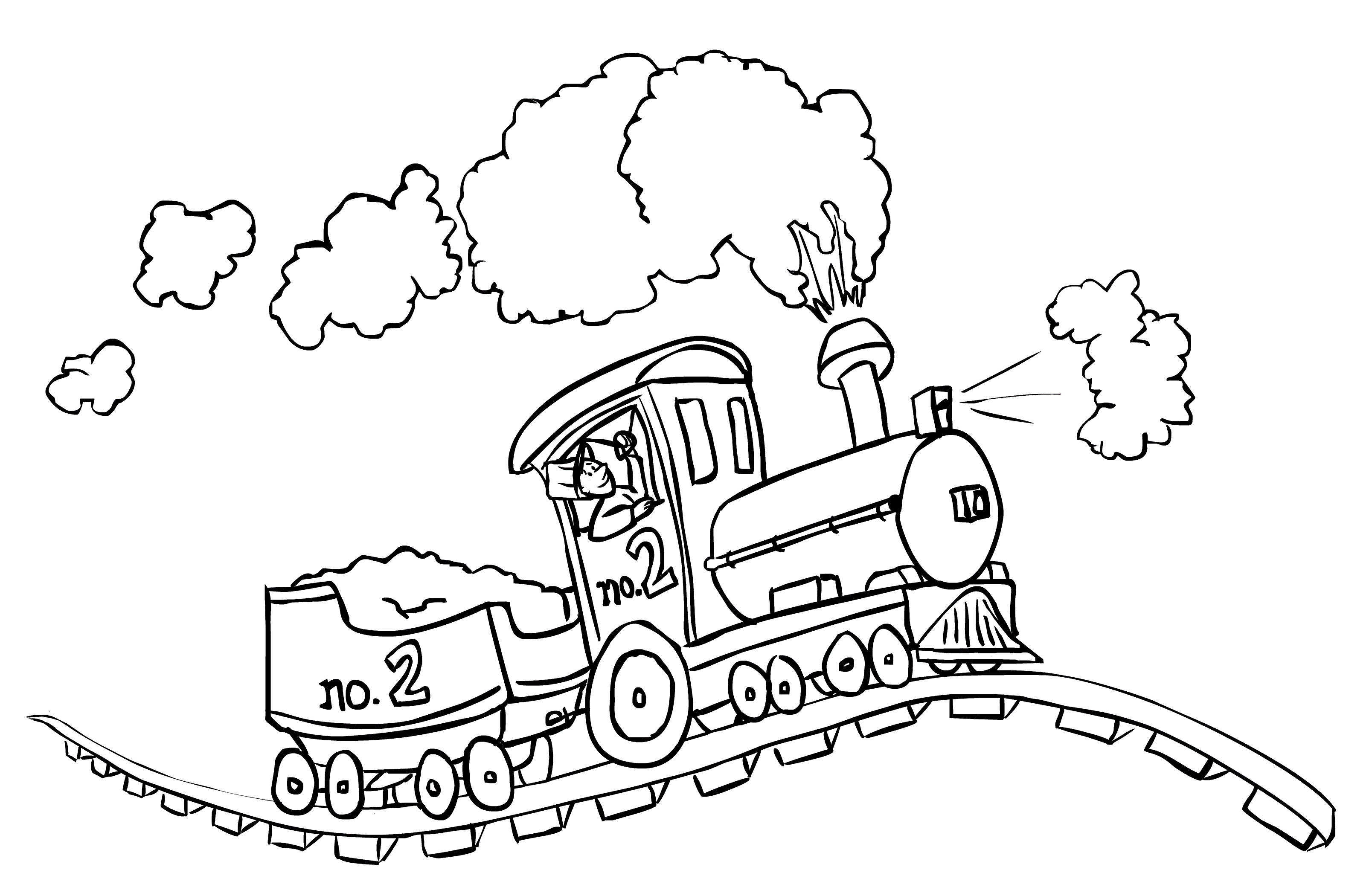 train coloring pages for kids - Free Download Coloring Pages