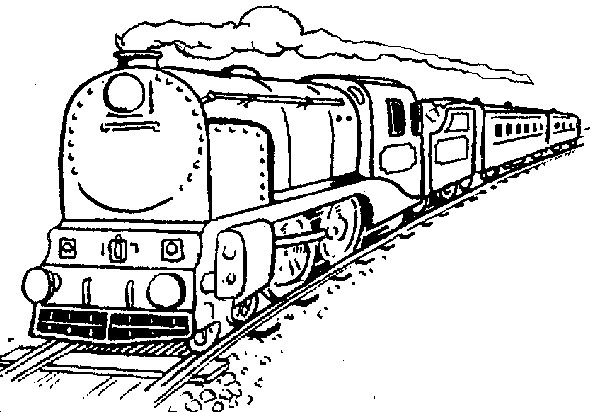 Train coloring pages for free download for Coloring page of a train
