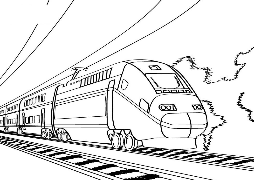 Trains Coloring Pages Free Printable