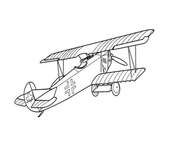 Vintage Airplane Coloring Page