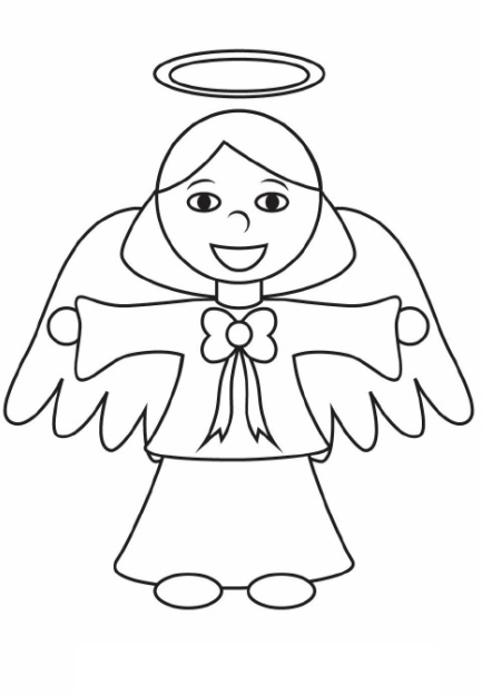 angel gabriel coloring page for preschoolers coloring pages