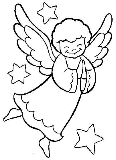 Angel Coloring Pages Printable