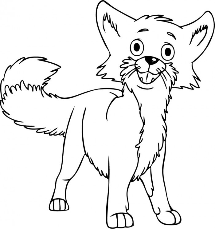 Animal Fox Coloring Pages
