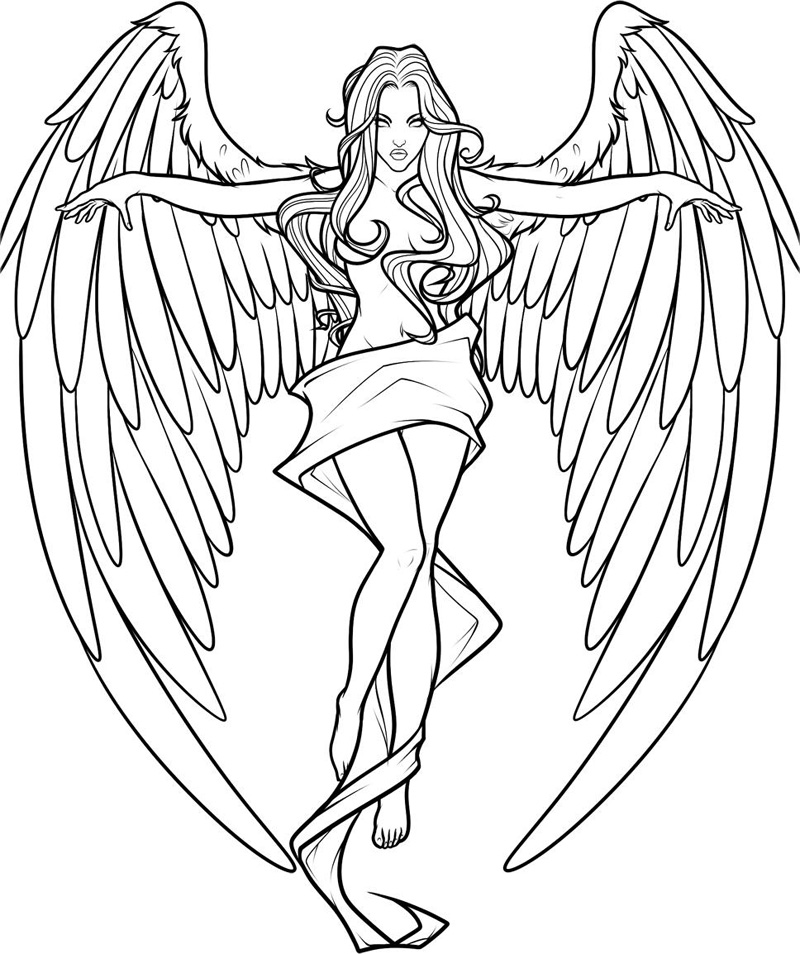 Fallen Angel Coloring Pages