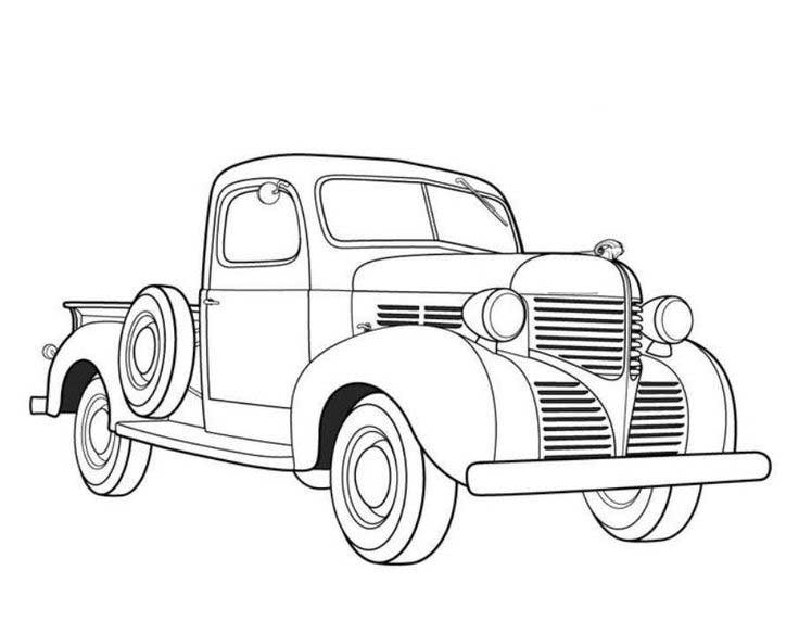 Antique Truck Coloring Pages