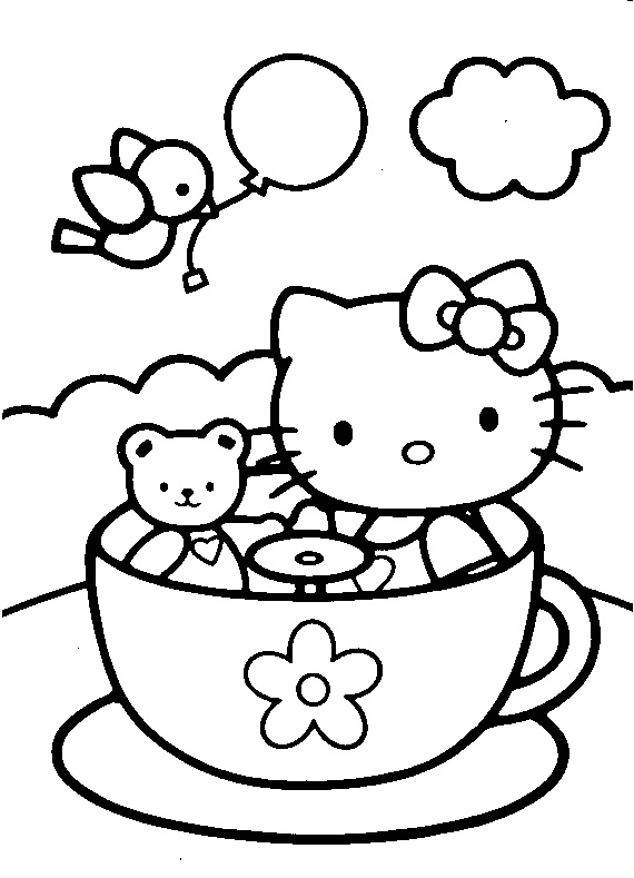 Baby Hello Kitty Coloring Pages To Print