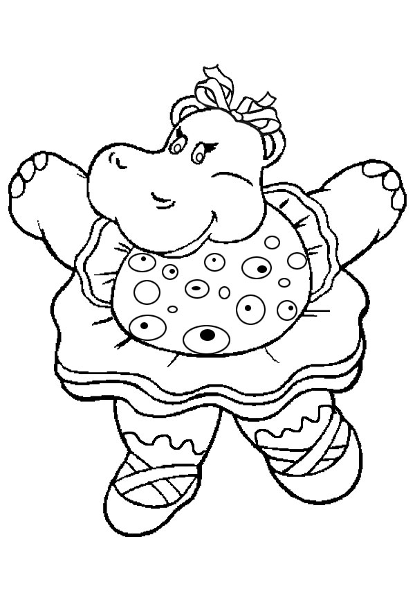 Hippo coloring pages download for Baby hippo coloring pages
