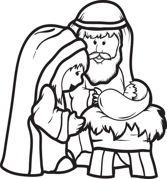 Baby Jesus Coloring Pages Free