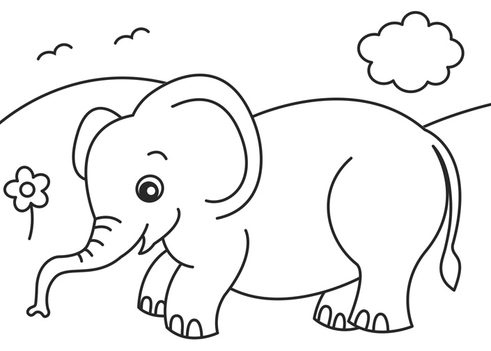 animal babies coloring pages - the gallery for coloring pages baby jungle animals