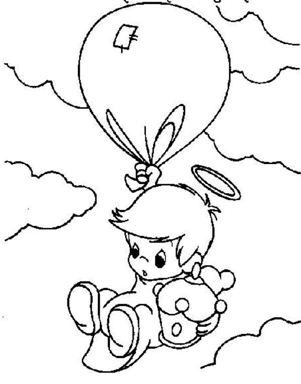 baby boy angel coloring pages - photo #7