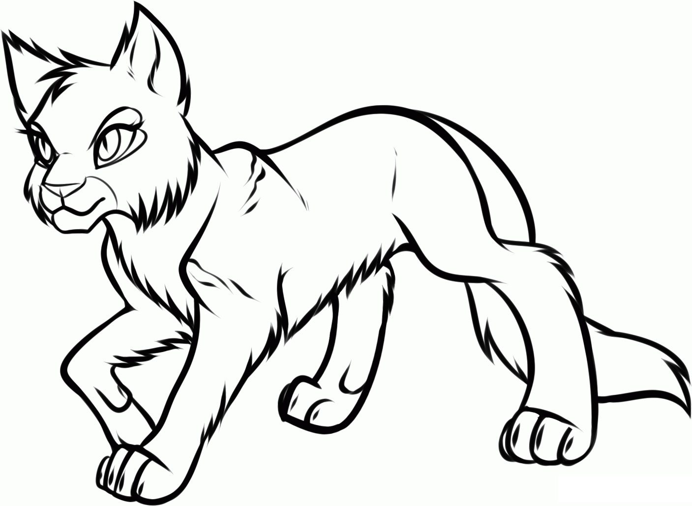 Coloring Page Of Cat  vardantnet