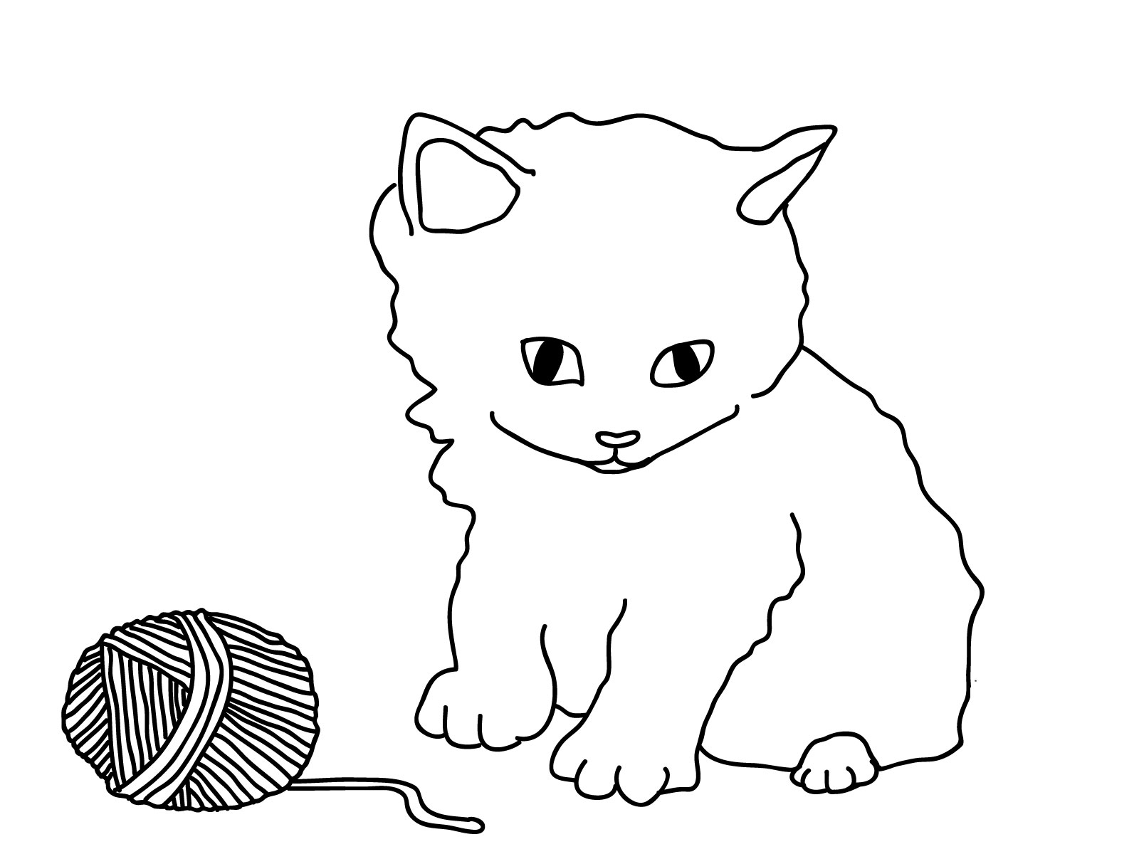 Free cat coloring pages for Coloring pages of kittens to print