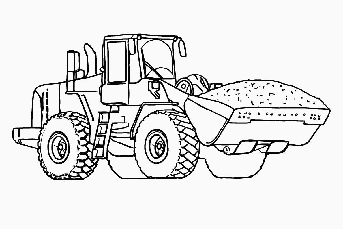 cat tractor coloring pages