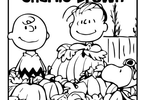 charlie brown thanksgiving coloring pages to print - halloween coloring pages free to download