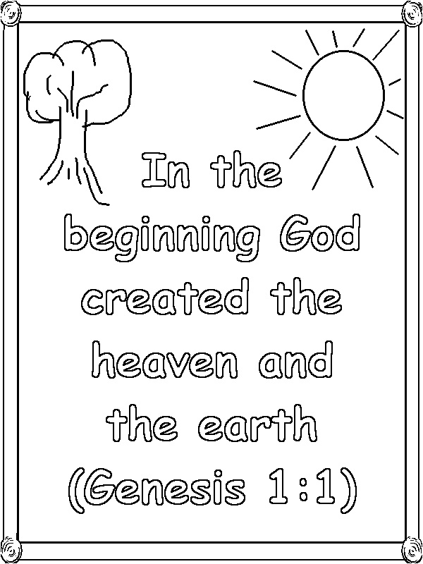 Christian Coloring Pages For Kids With Verses